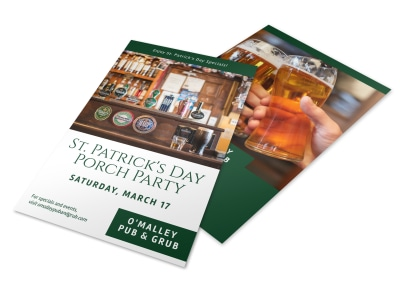Saint Patrick's Day Porch Party Flyer Template preview