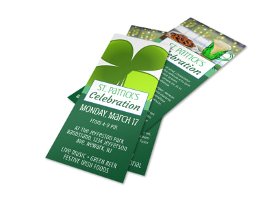 Saint Patrick's Celebration Flyer Template preview