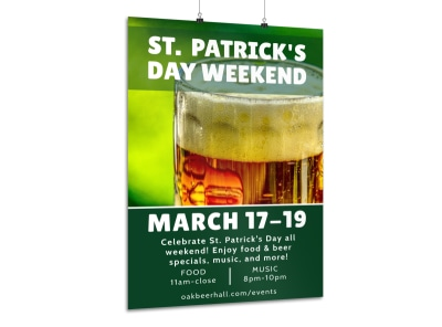 Saint Patrick's Day Weekend Poster Template preview
