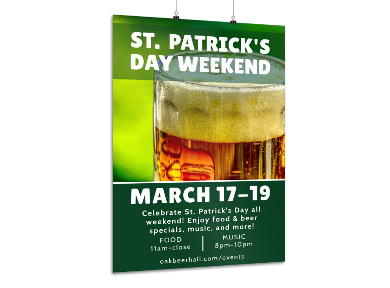 Saint Patrick's Day Weekend Poster