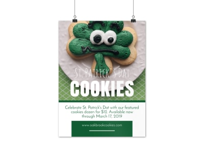 Saint Patrick's Day Cookie Poster Template preview
