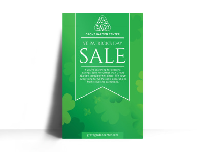 Saint Patricks Day Sale Poster Template preview