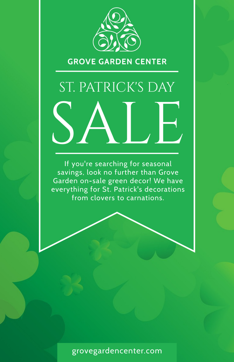 Saint Patrick's Day Sale Poster Template Preview 2