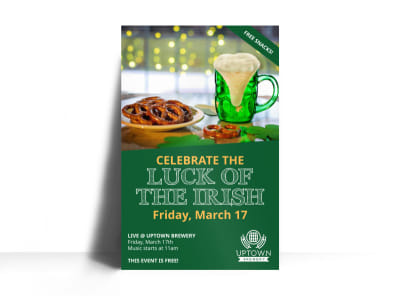 Saint Patrick's Day Irish Luck Poster Template preview