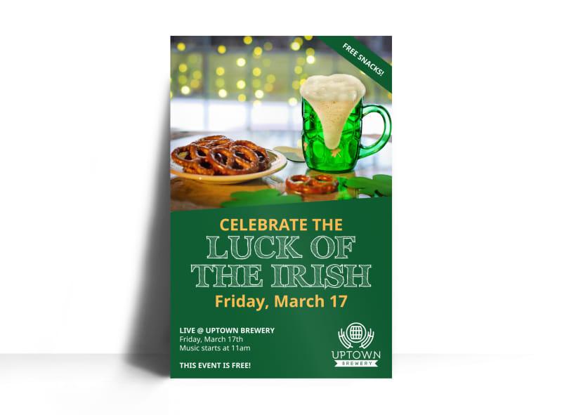 Saint Patrick's Day Irish Luck Poster Template
