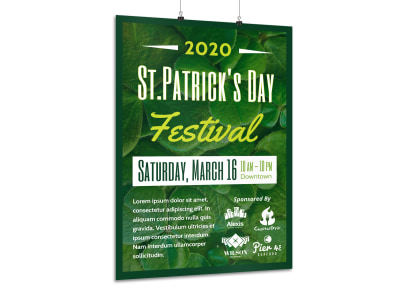 Saint Patrick's Day Festival Poster Template preview