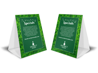 Saint Patrick's Special Table Tent Template preview