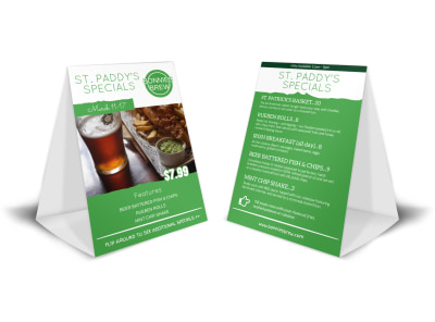 St Paddy's Day Table Tent Template