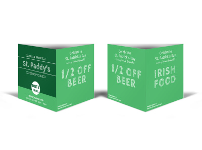 St. Paddy's Table Tent Template preview