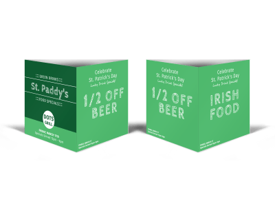 Saint Patrick's Day Table Tents Template Preview