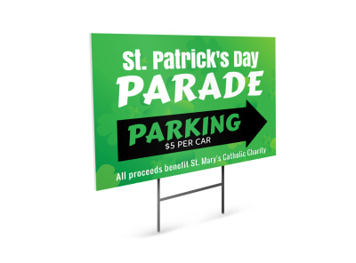 Saint Patrick's Day Parade Yard Sign Template preview