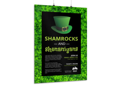 Shamrock Poster Template preview