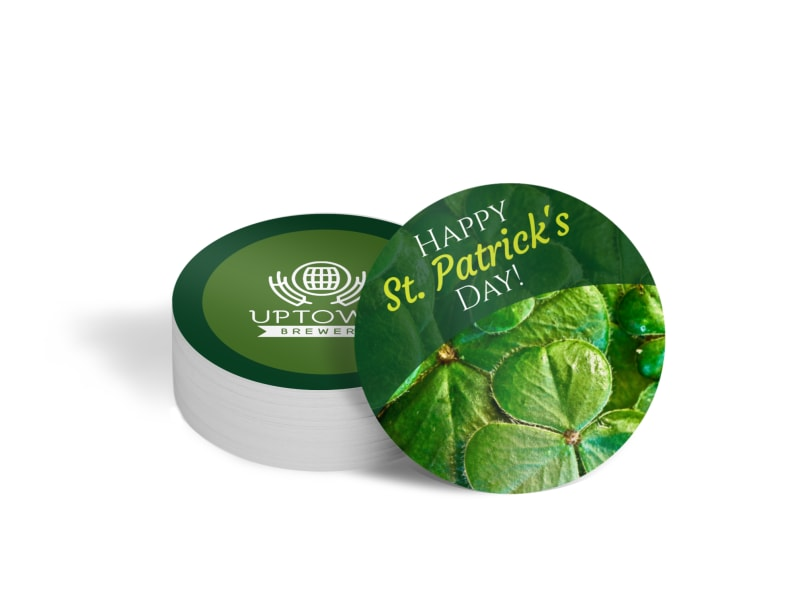 Saint Patricks Day Coaster Template'