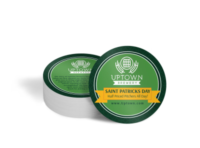 Saint Patrick's Day Sale Coaster Template