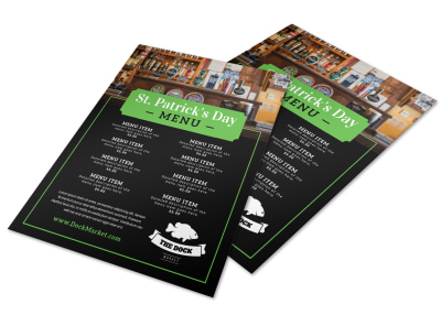 Cool Saint Patrick's Day Menu Template preview
