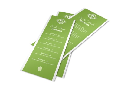 Irish Beer & Food Menu Template preview