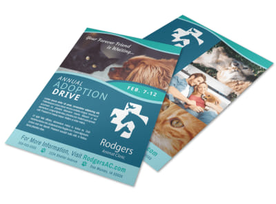 Annual Pet Adoption Drive Flyer Template