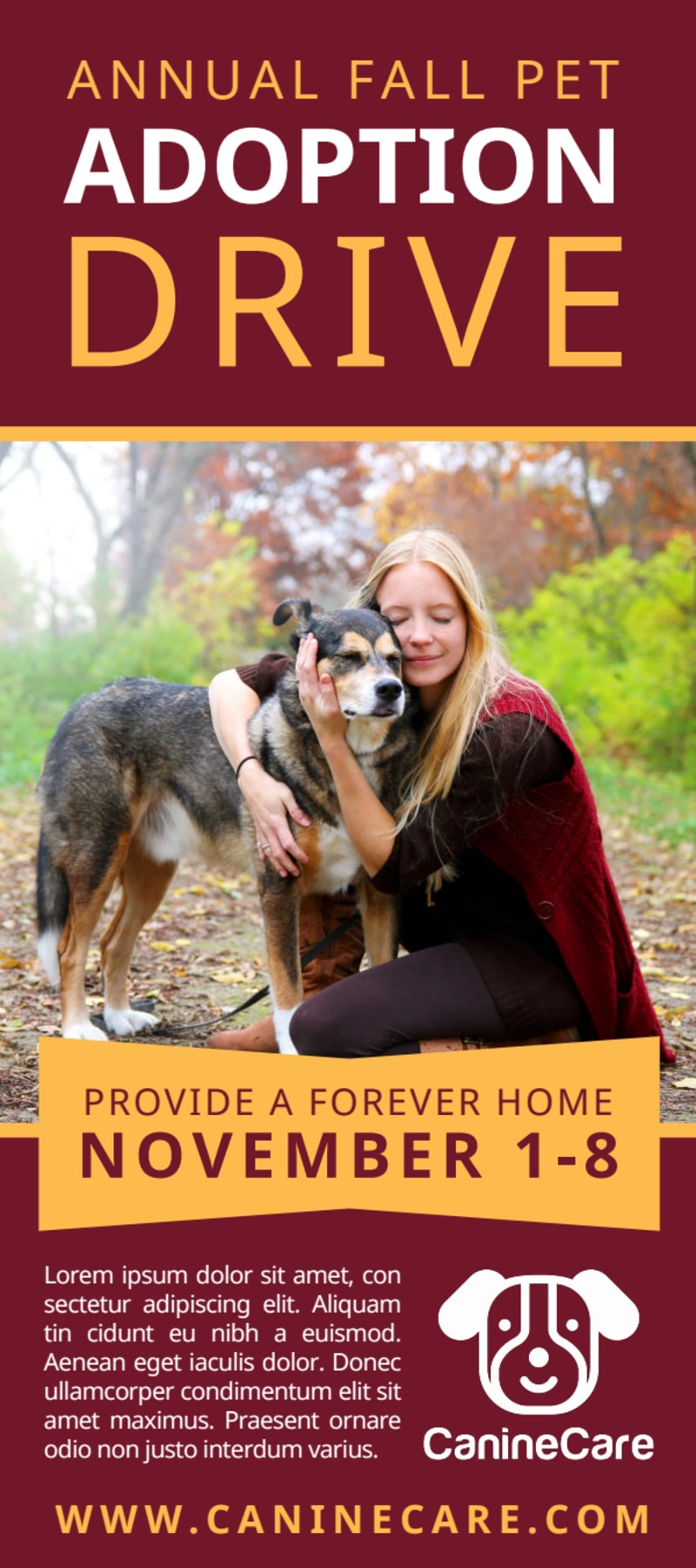 Awesome Pet Adoption Drive Flyer Template Preview 2