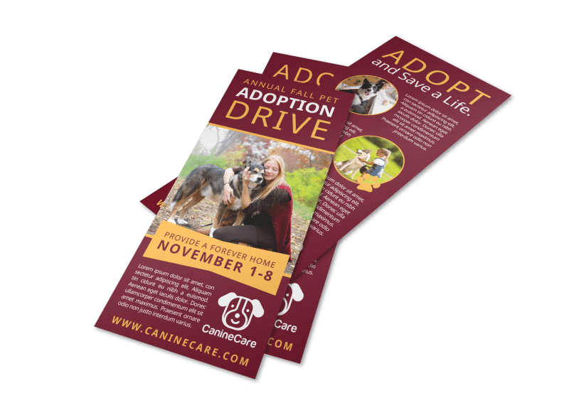 Awesome Pet Adoption Drive Flyer Template Preview 1