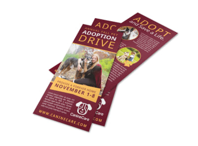 Awesome Pet Adoption Drive Flyer Template preview