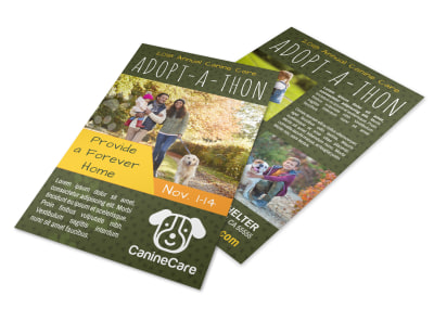 Pet Adopt-A-Thon Flyer Template preview