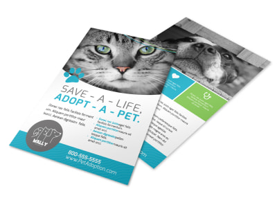 Adopt-A-Pet Flyer Template preview