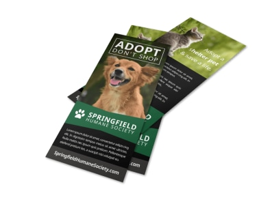 Pet Adopt Don't Shop Flyer Template preview