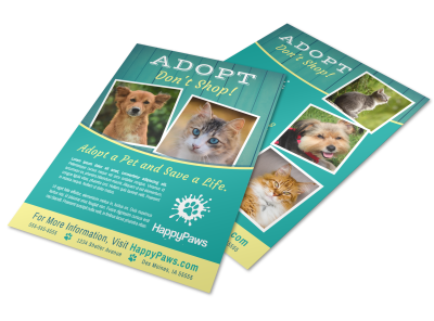 Pet Adoption Flyers Template Preview