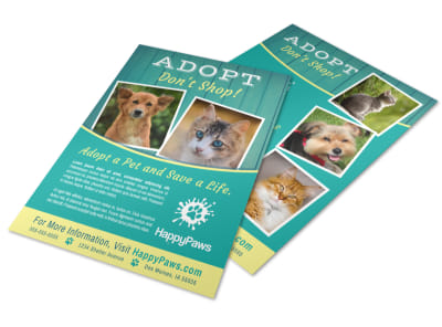 Adopt Don't Shop Flyer Template preview