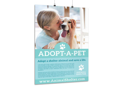 Adopt-A-Pet Poster Template preview