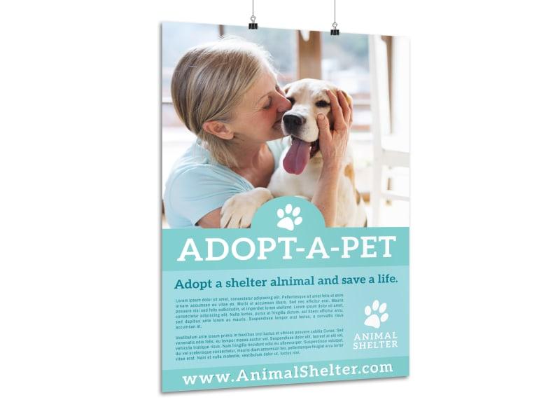 Adopt-A-Pet Poster Template