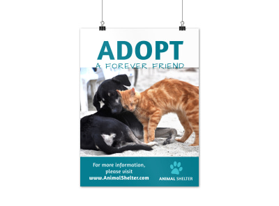 Pet Adoption Poster Template preview