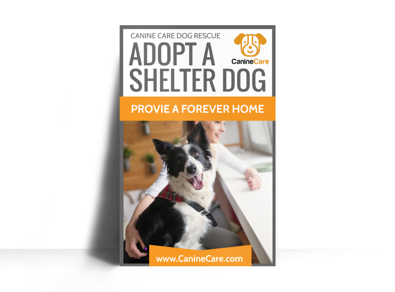 Pet Adoption Shelter Poster Template