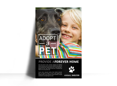 Simple Pet Adoption Poster Template