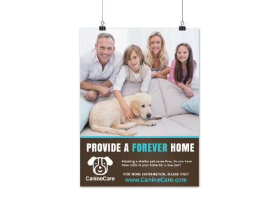 Pet Forever Home Poster Template preview