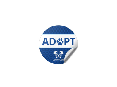 Pet Adoption Sticker Template preview