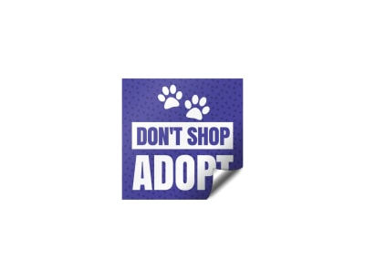 Don't Shop Adopt Sticker Template