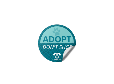Pet Adoption Sticker Templates Template Preview
