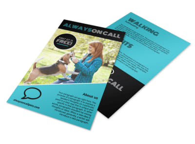 On Call Pet Sitting Flyer Template preview