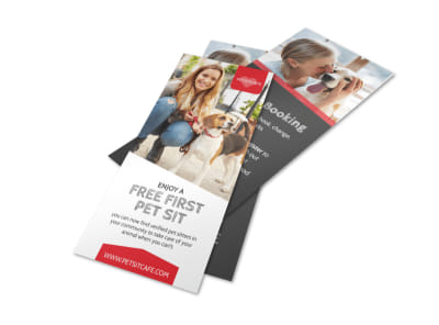 Pet Sit Flyer Template preview