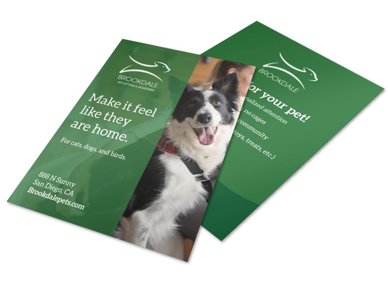 Pet Boarding Flyer Template Preview 1