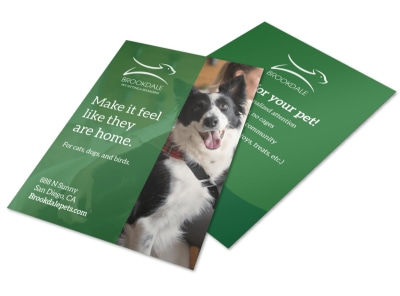 Pet Boarding Flyer Template preview