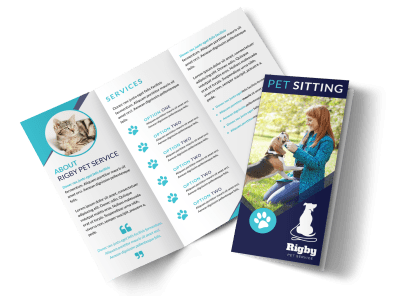 Pet Sitting Brochures Template Preview