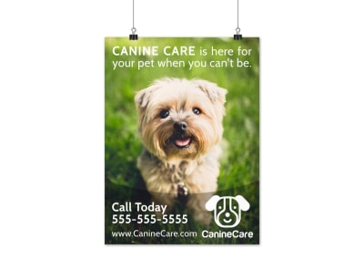 Canine Pet Sitting Poster Template preview
