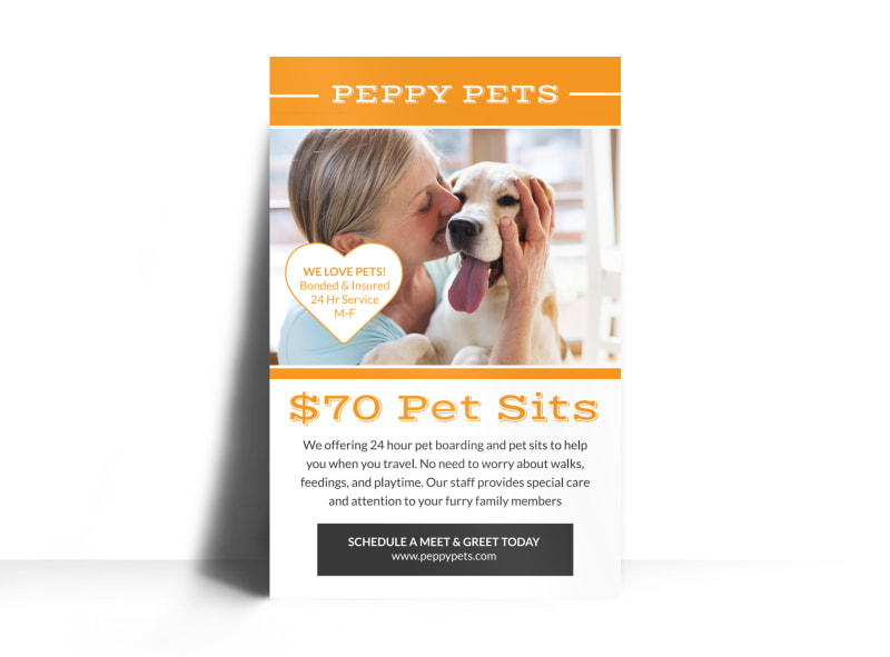 Pet Sitting Price Poster Template