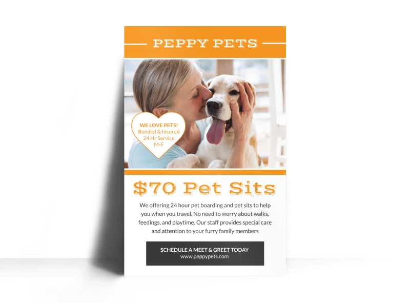 Pet Sitting Price Poster Template Preview 1