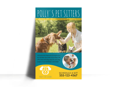 Pet Sitters Poster Template preview