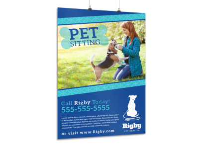 Pet Sitting Poster Templates Template Preview