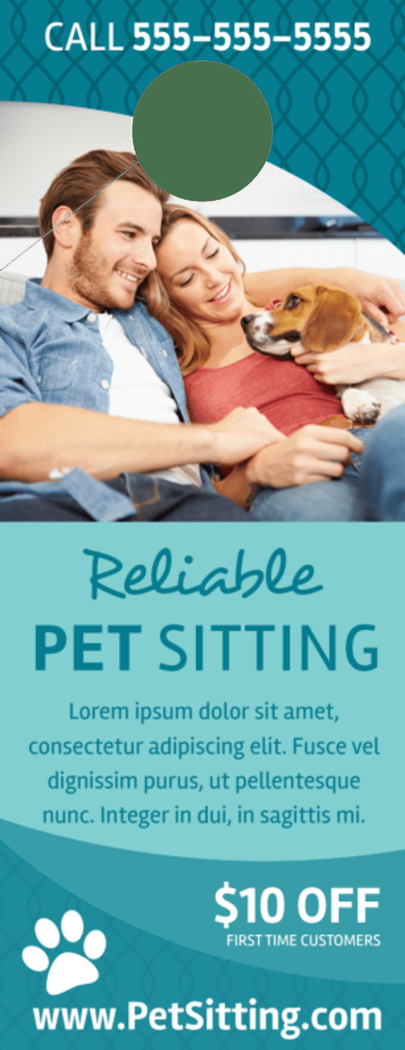 Promo Pet Sitting Door Hanger Template Preview 2