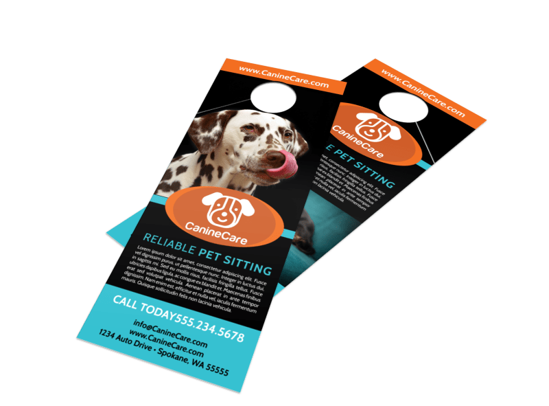 Canine Sitting Door Hanger Template Preview 1